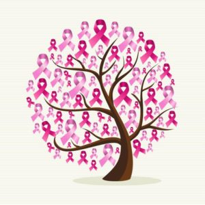 Pink Breast cancer tree